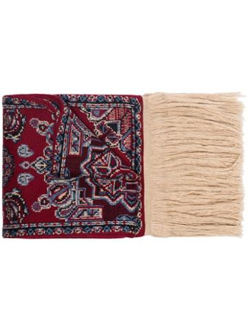 Y/project Fringed Carpet Scarf - Red