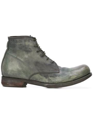 A Diciannoveventitre Worn-out Effect Boots - Green