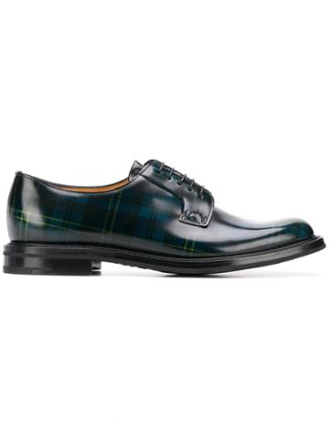 Church's Tartan Oxford Shoes - Blue