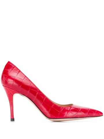 Roberto Festa Embossed New Emma Pumps - Red