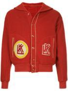 Fake Alpha Vintage 1930s Shawl Jacket - Red