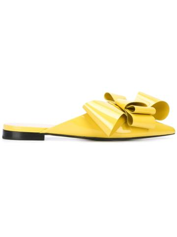 Delpozo Bow Mules - Yellow