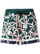 Moncler Floral Print Shorts - Green