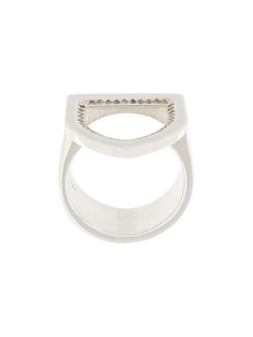 Ambush Diamond Crest Ring, Adult Unisex, Size: Medium, Metallic