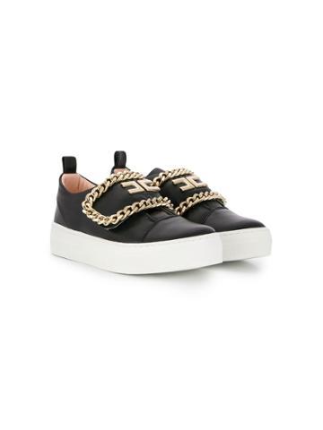 Elisabetta Franchi La Mia Bambina Teen Chain-link Slip-on Sneakers -