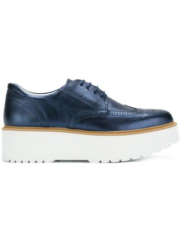 Hogan Platform Brogues - Blue