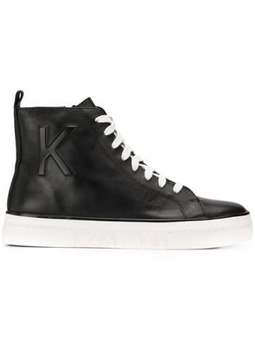 Calvin Klein Calvin Klein 205w39nyc E7548 Blk Calf Leather - Black