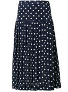 Alessandra Rich Polka Dot Pleated Skirt - Blue