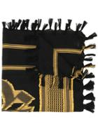 Undercover Patterned Scarf - Black