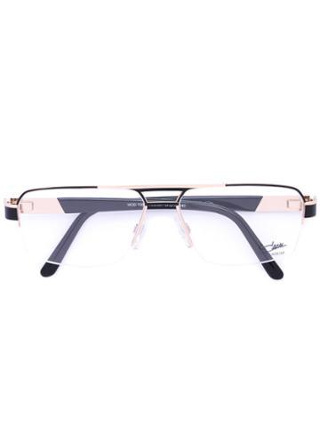 Cazal - Rectangle Frame Glasses - Men - Acetate/titanium - 57, Black, Acetate/titanium