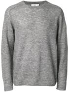 Closed Knitted Jumper - Grey