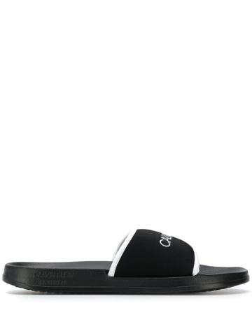 Calvin Klein Printed Logo Slides - Black