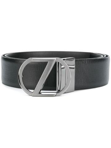 Ermenegildo Zegna Z Logo Belt - Black