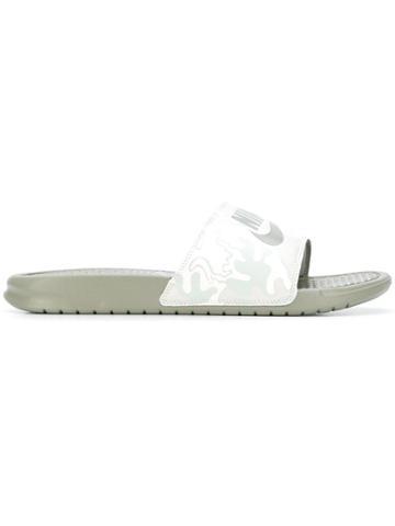 Nike Benassi Jdi Printed Slides - Green