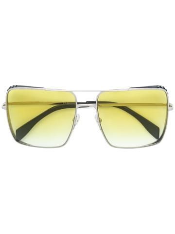 Moschino Eyewear Oversized Square Sunglasses - Metallic