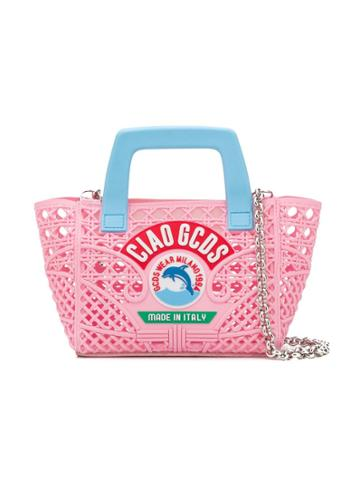 Gcds Kids Teen Logo Basket Bag - Pink