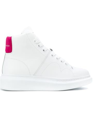 Alexander Mcqueen Lace-up Hi Tops - White