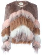 Urbancode Furry Striped Jacket