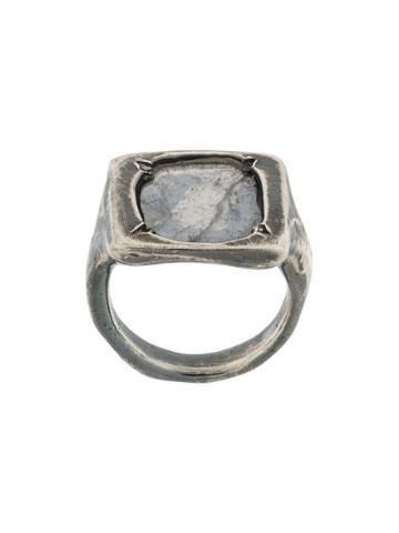 Chin Teo Diamond Omega Deux Ring - Metallic