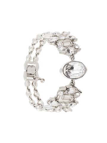 Givenchy Pre-owned Crystal-embellished Bracelet - Silver