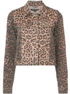 Veronica Beard Leopard Print Denim Jacket - Black