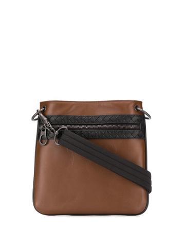 Bottega Veneta Embroidered Messenger Bag - Brown