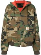 R13 Military Printed Bomber Jacket - Green
