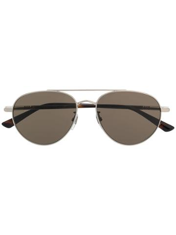 Gucci Eyewear Aviator Frame Sunglasses - Brown