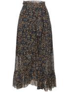 Ganni Tilden Mesh Skirt - Black