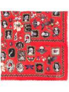 Alexander Mcqueen Curiosities Shawl - Red