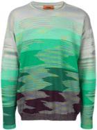Missoni Gradient Knit Jumper - Green