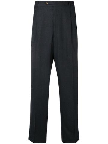 Burberry Vintage 2000 Straight-leg Trousers - Grey