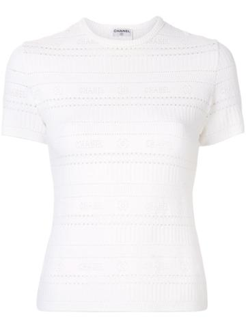 Chanel Pre-owned 1997 Cc Cut-out T-shirt - White