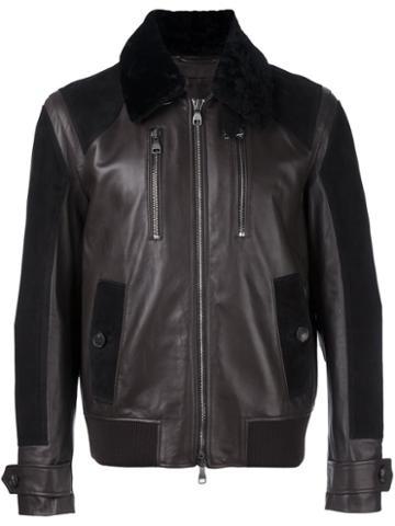 Salvatore Ferragamo Shearling Collar Jacket