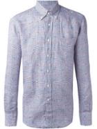 Canali Plaid Button Down Shirt