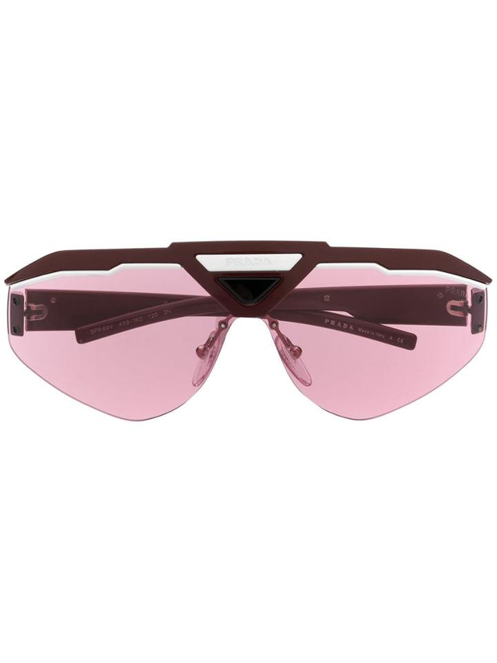 Prada Eyewear Sport Style Sunglasses - Red