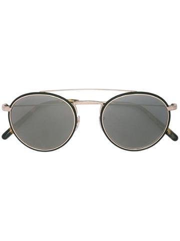 Oliver Peoples Round Aviator Sunglasses - Black
