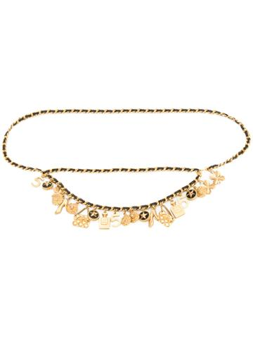 Chanel Vintage Layered Charms Necklace - Black