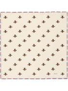 Gucci Bees Print Silk Pocket Square - Neutrals