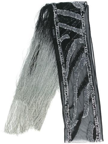 Rockins Sequins Embellished Scarf - Black