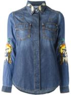 Roberto Cavalli Embroidered Denim Shirt