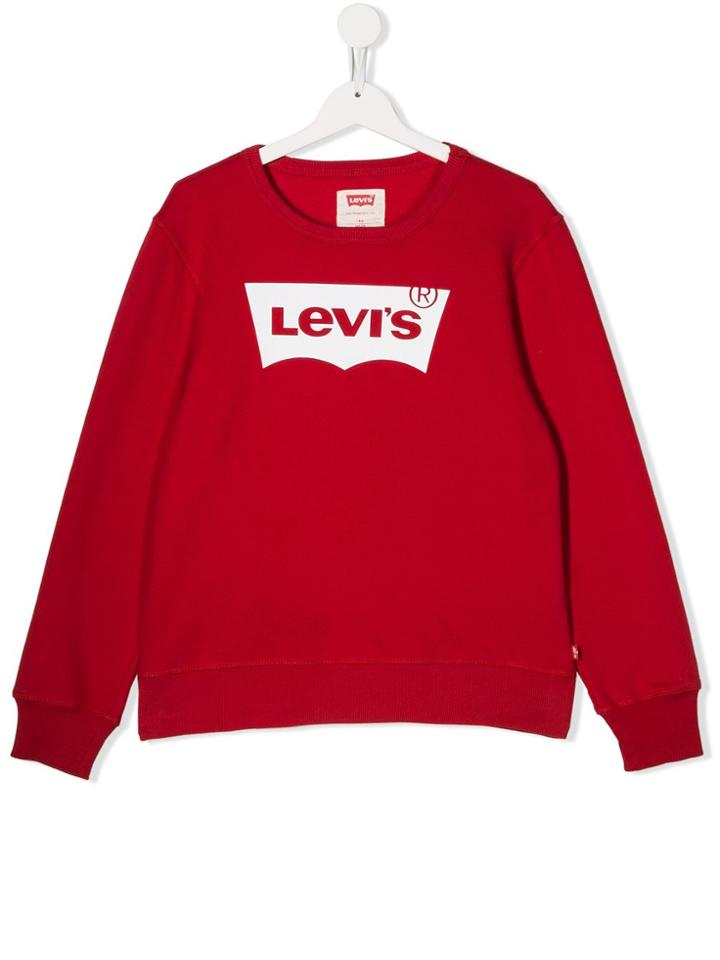 Levi's Kids Teen Printed Logo Sweater - Red