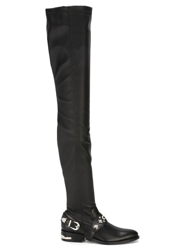 Toga Thigh-high Buckled Boots