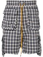 Rhude Plaid Shorts - Blue