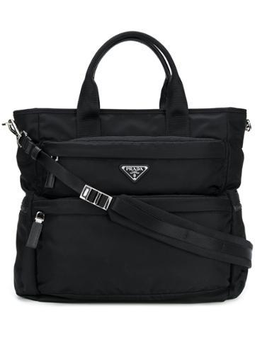 Prada Tess Montagna Shopping Tote - Black