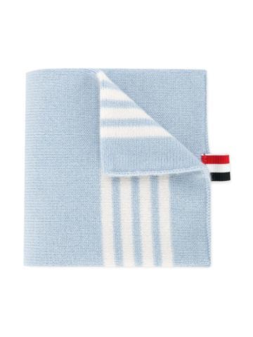 Thom Browne Kids Striped Scarf - Blue