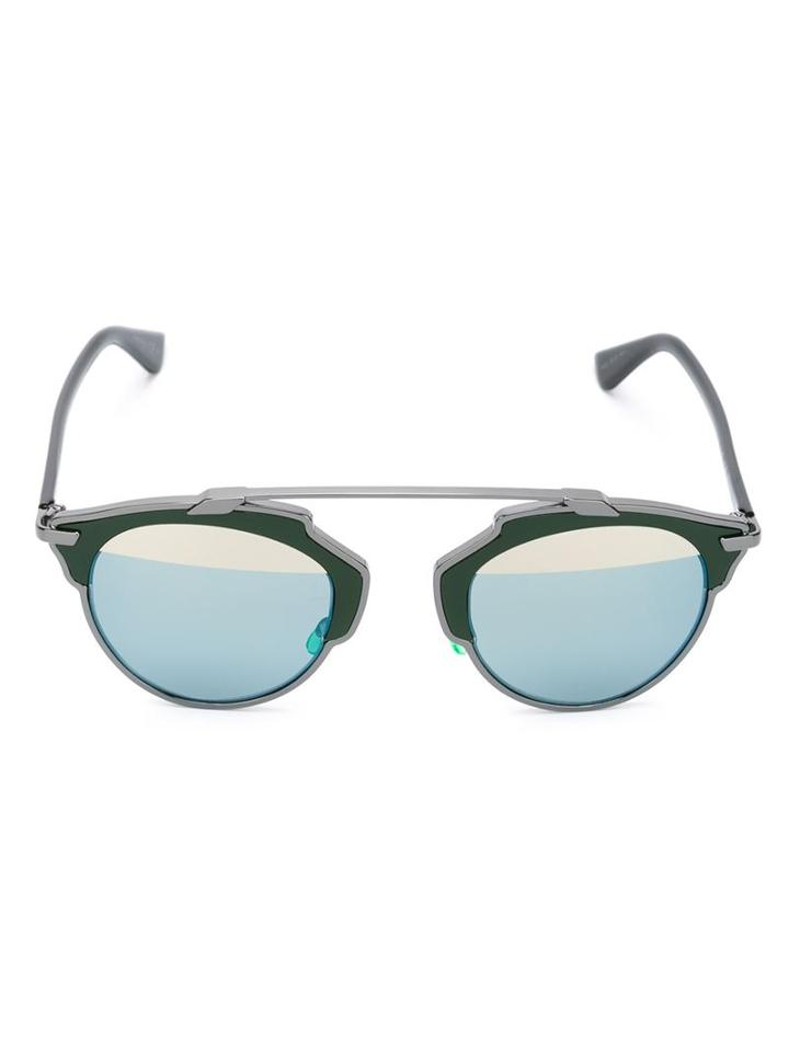 Dior Eyewear So Real Sunglasses, Women's, Green, Metal Other/acetate