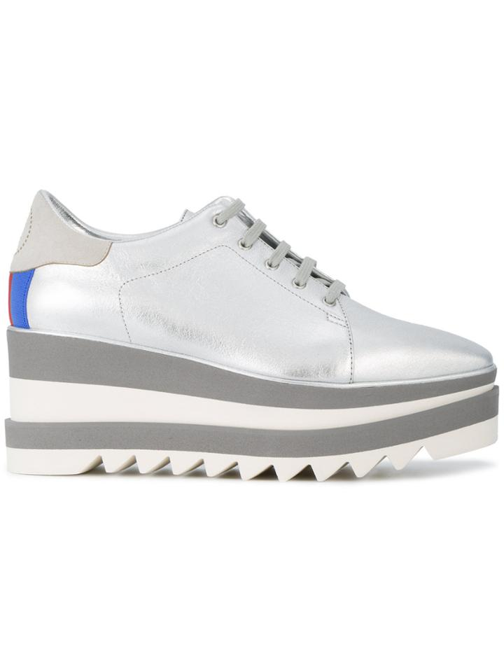 Stella Mccartney Sneak-elyse Platform Sneakers - Metallic