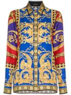 Versace Printed Buttoned Up Silk Shirt - Unavailable