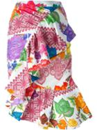 Stella Jean Printed Ruffled Skirt